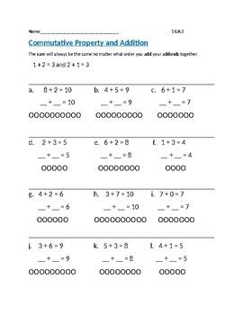 Commutative Property Addidtion