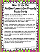 Commutative Property (Addition) Puzzle Cards