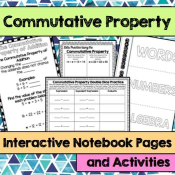 Commutative Property Interactive Notebook