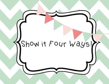 Commutative Property Practice: Show it Four Ways!
