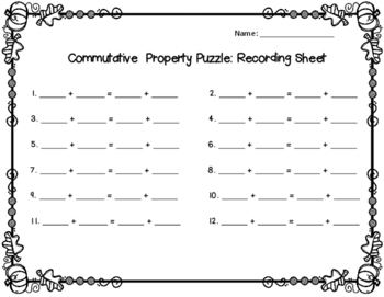 Commutative Property Puzzle