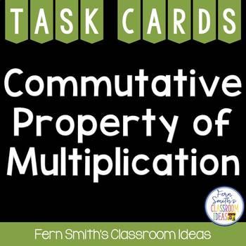 3rd Grade Go Math 3.6 Commutative Property Task Cards