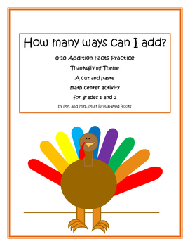 Commutative Property of Addition 0-10 Practice for Primaries Thanksgiving Theme