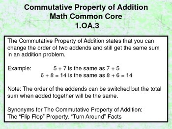Commutative Property of Addition - 1.OA.3 - Common Core Math