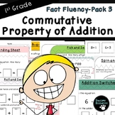Commutative Property of Addition-Fact Fluency Pack 3 (First Grade, 1.OA.3)