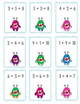 Commutative Property of Addition Monster Match 1.OA.3