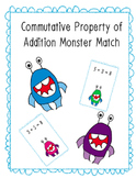 Commutative Property of Addition Monster Match 1.OA.3