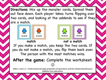Commutative Property of Addition {Monster Style!}