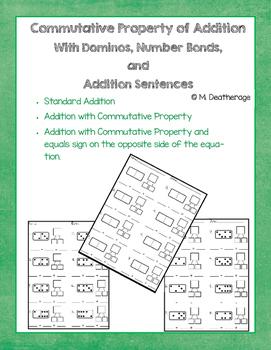 Commutative Property of Addition Number Bond Domino Number
