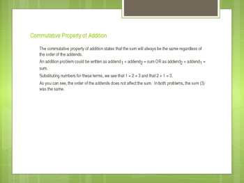 Commutative Property of Addition: Partner Practice