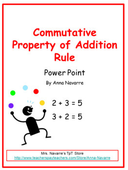 Commutative Property of Addition - Power Point