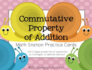 Commutative Property of Addition Math Station