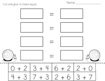 Commutative Property of Addition Math Station