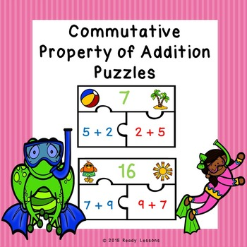 Commutative Property of Addition Puzzles 1.OA.3