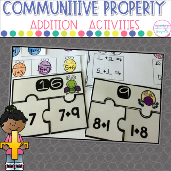Commutative Property of Addition Puzzles and Printables