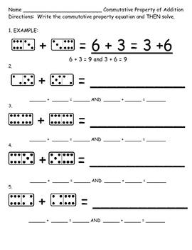 Commutative Property of Addition Second Grade