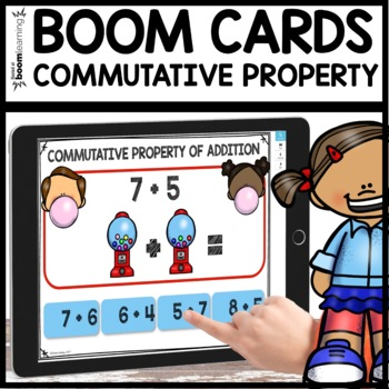 Commutative Property of Addition BOOM CARDS