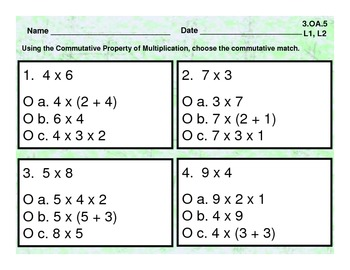Commutative Property of Multiplication - 3.OA.5 - Common Core Math