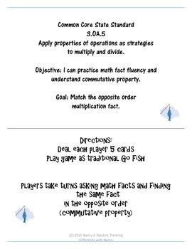 Commutative Property of Multiplication 6-10
