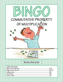 Commutative Property of Multiplication Bingo Game