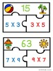 Commutative Property of Multiplication Game 3rd Grade Math Center Puzzles 3.OA.5