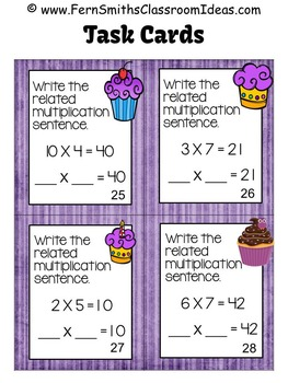 3rd Grade Go Math 3.6 Commutative Property of Multiplication Task Cards & Center