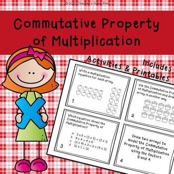 Commutative Property of Multiplication - Task Cards and Activities