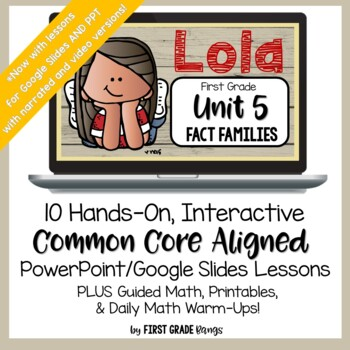 Distance Learning* Fact Families to 20 Easy PPT Math Lessons for Home or School