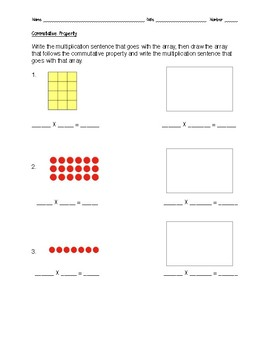 Commutative Property with Multiplying