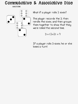 Commutative and Associative Dice Game