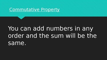 Commutative and Associative Property PowerPoint