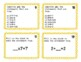 Commutative and Identity Properties Task Cards