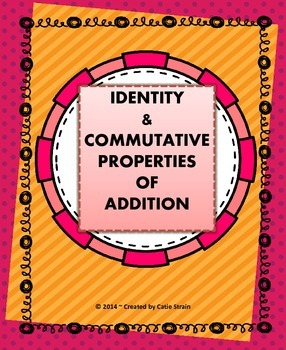 Commutative and Identity Properties of Addition Poster & A