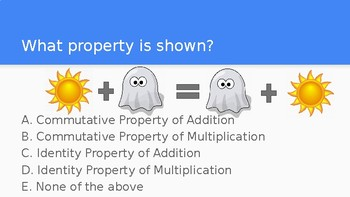 Commutative and Identity Property Practice with Pictures