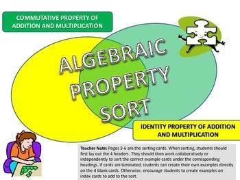 Commutative and Identity Property Sort