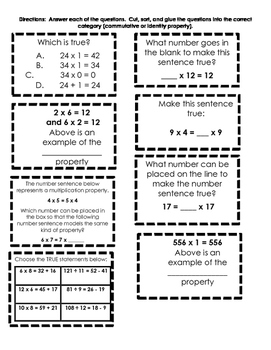 Commutative and Identity property sort