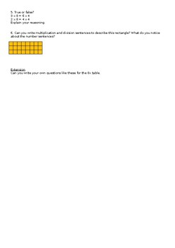 Commutativity worksheet (8x table)