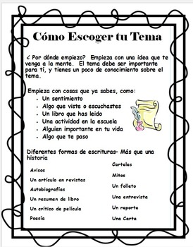 Como Empezar a Escribir/ How to Start Writing