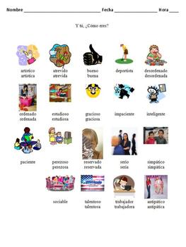 Como Eres?  Fun Activities for Describing Personalities