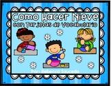 Como Hacer Nieve con Tarjetas de Vocabulario y Actividades