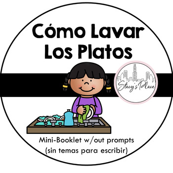 Mini-Booklet, Cómo Lavar Los Platos/How to Wash Dishes (no prompts)