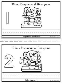 Mini-Booklet: Cómo Preparar el Desayuno/How to Make Breakfast (w/prompts)