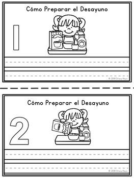 Mini-Booklet: Cómo Preparar el Desayuno/How to Make Breakfast (no prompts)