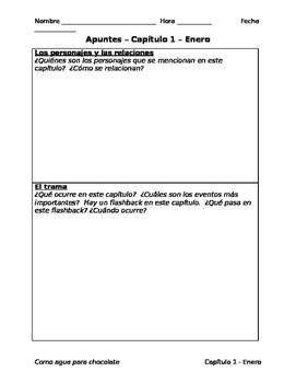 Como agua para chocolate - Capítulo 1 - Enero - Student Activities