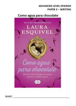 Como agua para chocolate - writing workbook