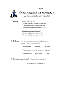 Cómo construir un argumento- How to construct an argument
