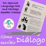 Cómo escribir diálogo  (How to write dialogue in Spanish)