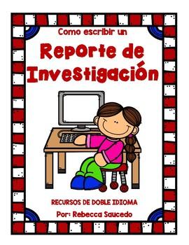 How to Write a Research Report Spanish)Como escribir un Reporte de Investigacion