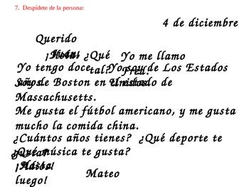 Cómo escribir una carta - How to write a letter in Spanish