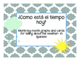 Como esta el tiempo hoy? A packet for telling about the weather in Spanish!